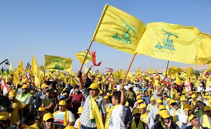 Акция в защиту «Хезболлы»