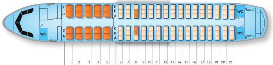 Альтернативная схема салона A319
