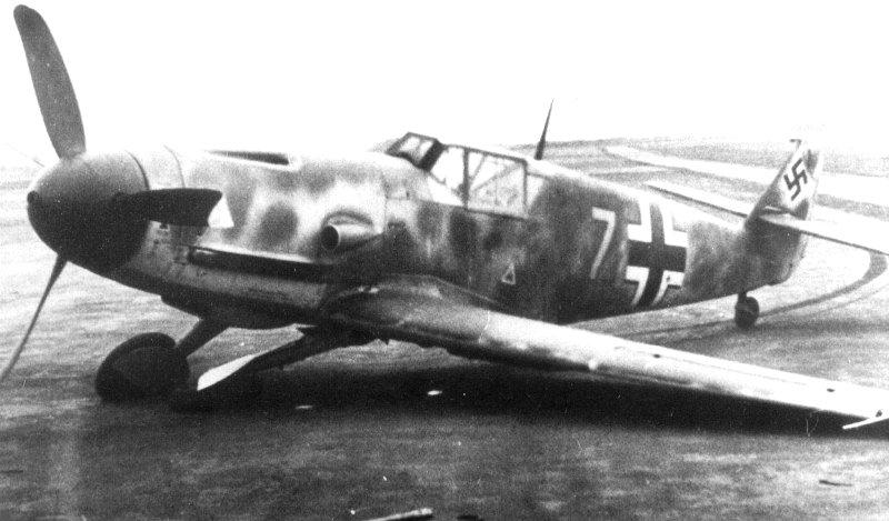 Bf.109 с подломанным шасси