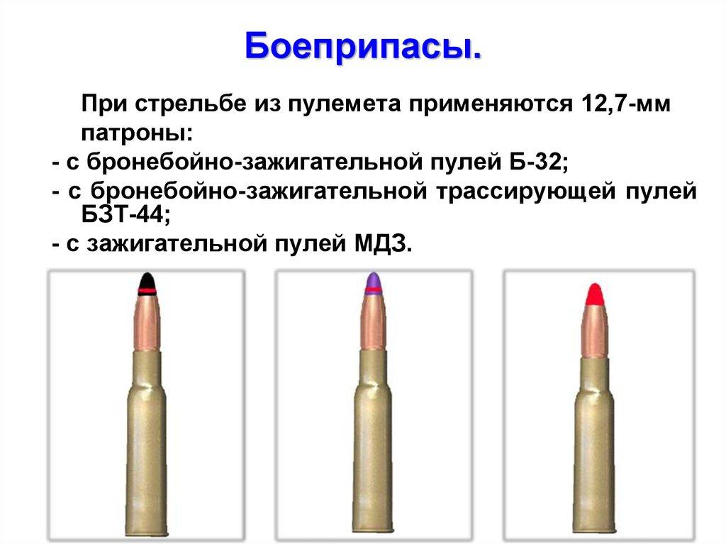 Боеприпасы к пулемету