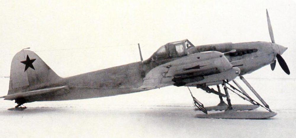 Ил-2 на лыжном шасси