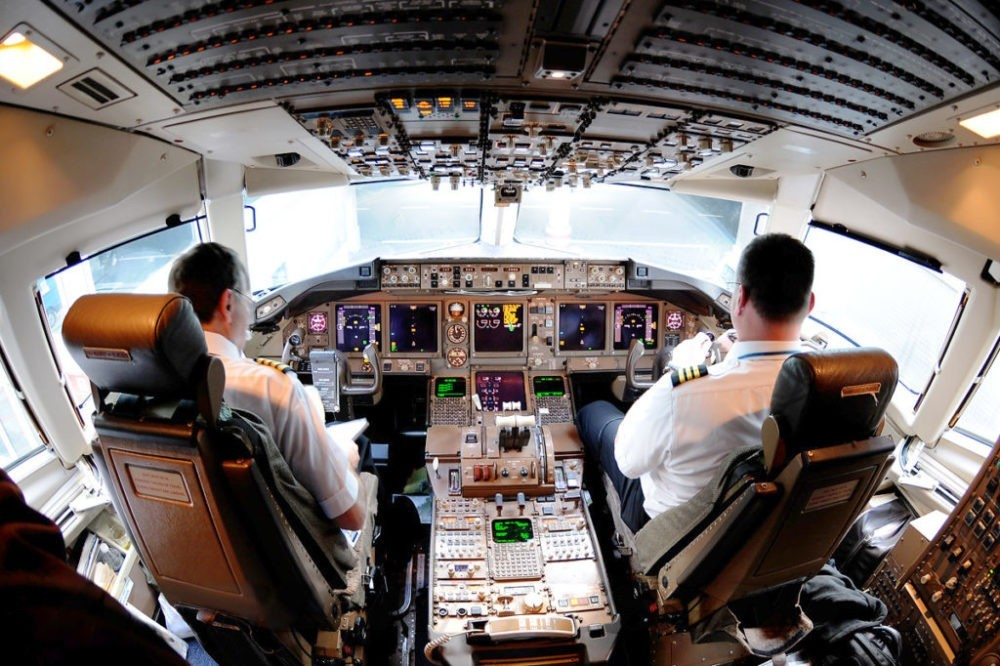Кабина пилотов Boeing 767