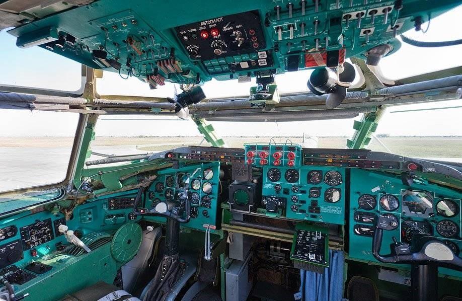 Кабина пилотов Ту-95МС