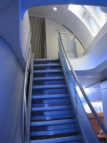 Межпалубная лестница Boeing 747-8I