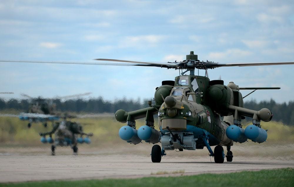 Ми-28 перед взлетом