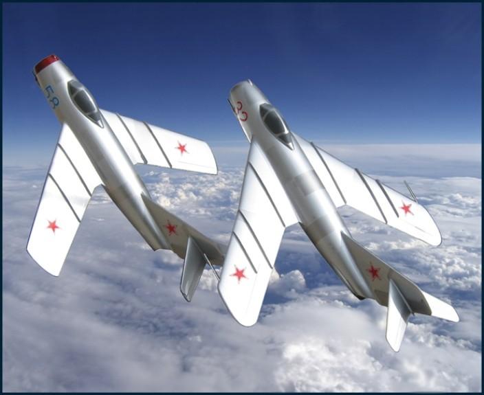 Миг-17 и МиГ-15