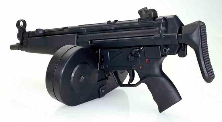 MP5 с барабанным магазином