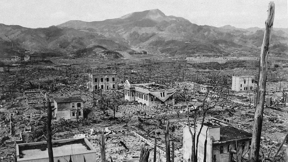 Нагасаки после атомного взрыва