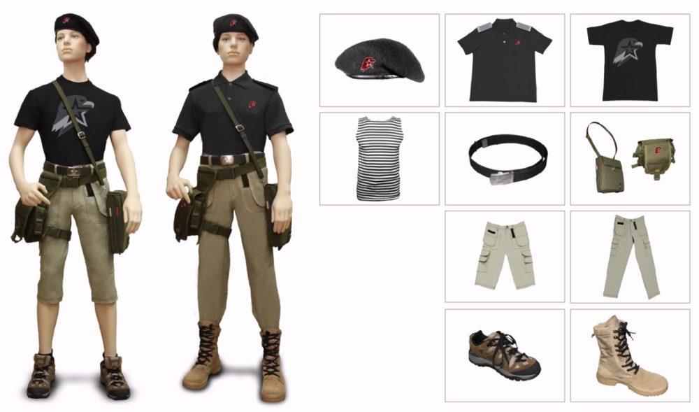 Одежда для «флотских» юнармейцев