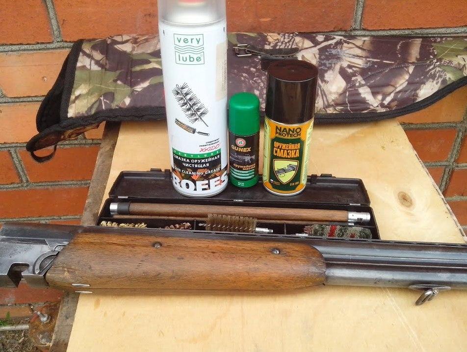 Подготовка к чистке ТОЗ-34