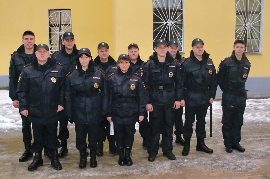 Полиция Гатчины в форме