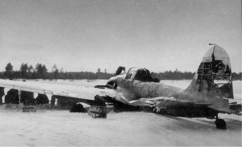 Поврежденный Ил-2