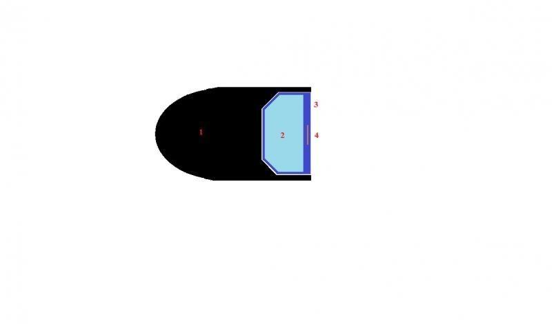 Пуля с перекисью в разрезе