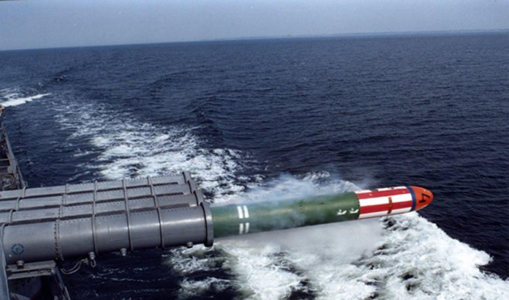 Пуск «Шквала» с надводного носителя