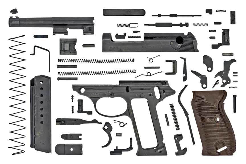 Разобранный Walther P38