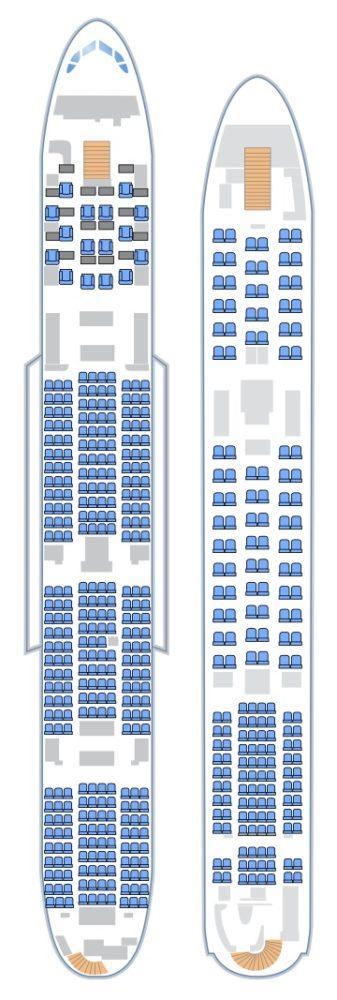 Схема салона А380