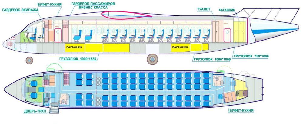 Схема салона Ан-148