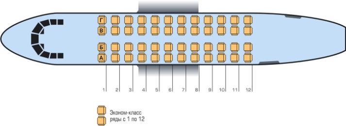 Схема салона Ан-24