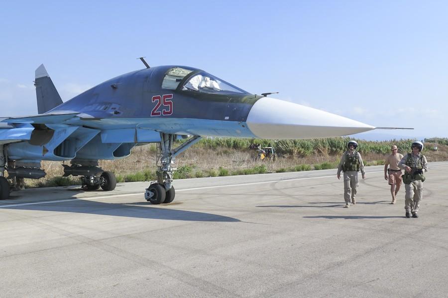 Су-34 на базе «Хмеймим»