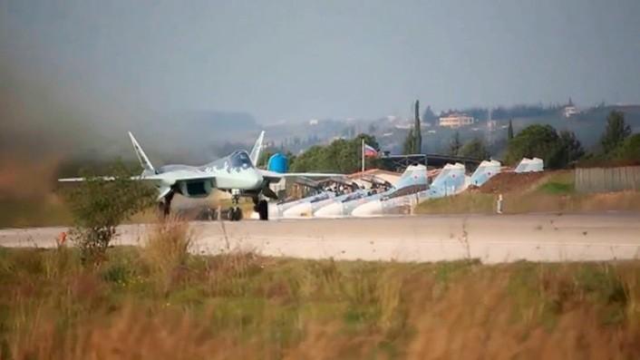 Су-57 на базе Хмеймим