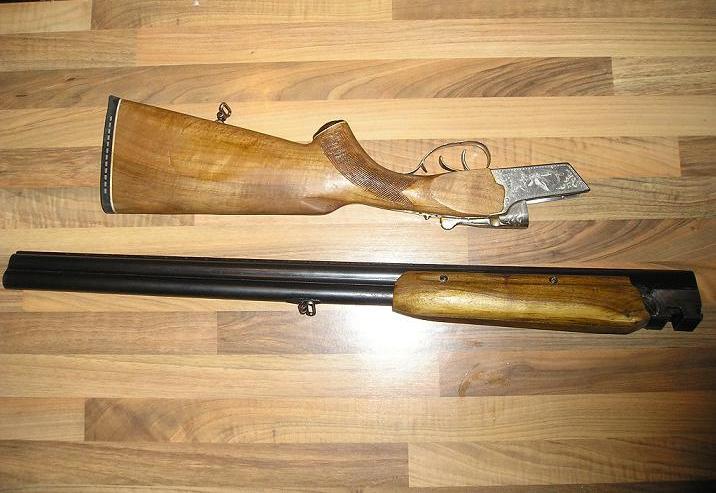 ТОЗ-34 со снятыми стволами