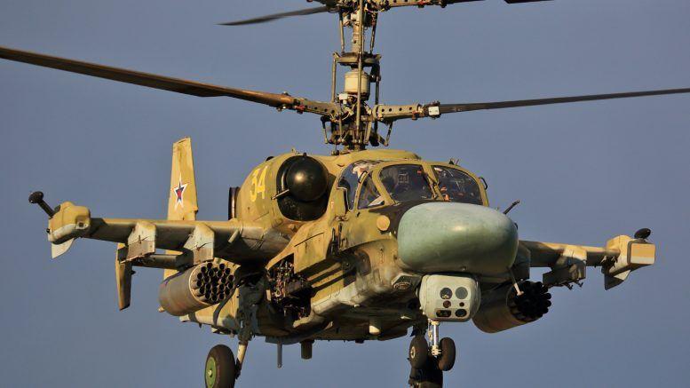 Вертолет Ка-52 в Сирии