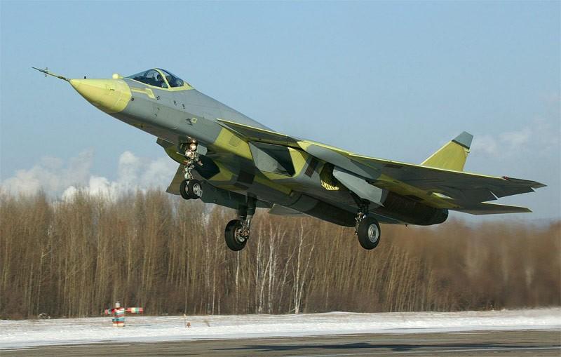 Взлет Су-57