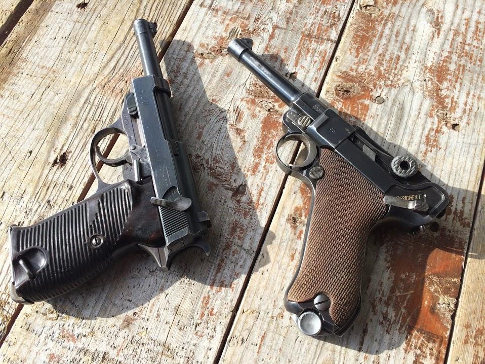 Walther P38 и Luger P08 Parabellum