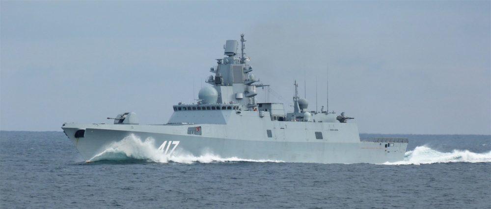 «Адмирал Горшков» в море