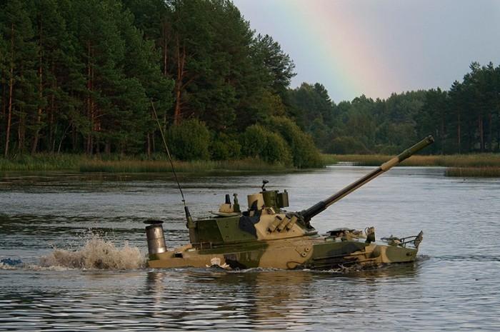 БМП-3 в воде
