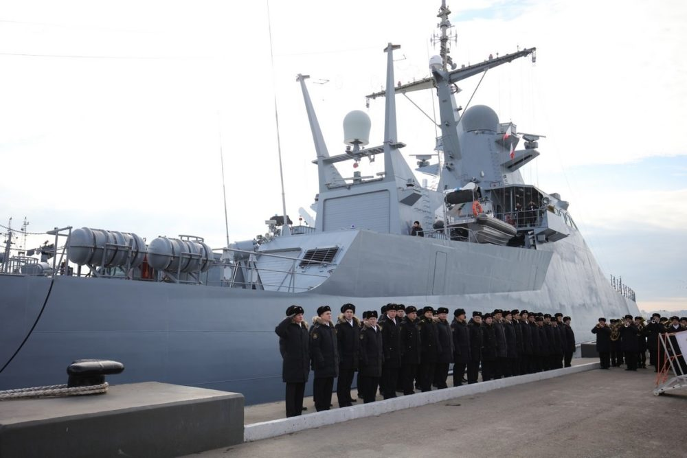 Церемония передачи корабля проекта 22160