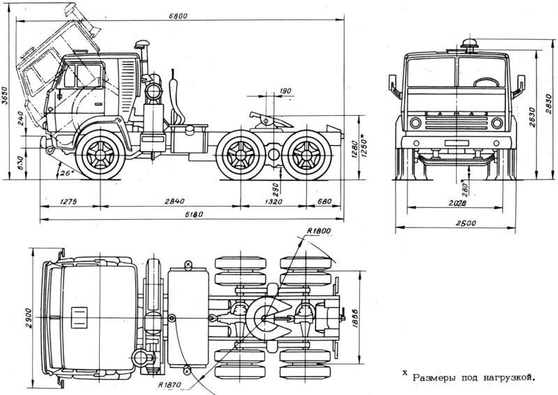 Чертежи КамАЗ-5320