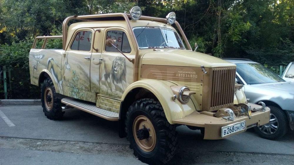 ГАЗ-63, переделанный в пикап