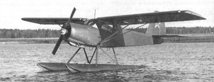 Гидросамолет на основе Як-12Р