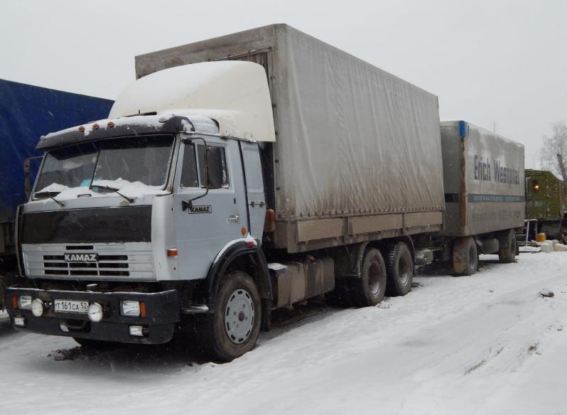 КамАЗ-53212 с прицепом