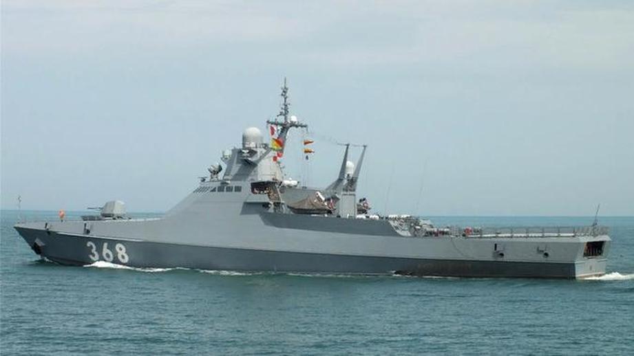 Корабль проекта 22160 в море