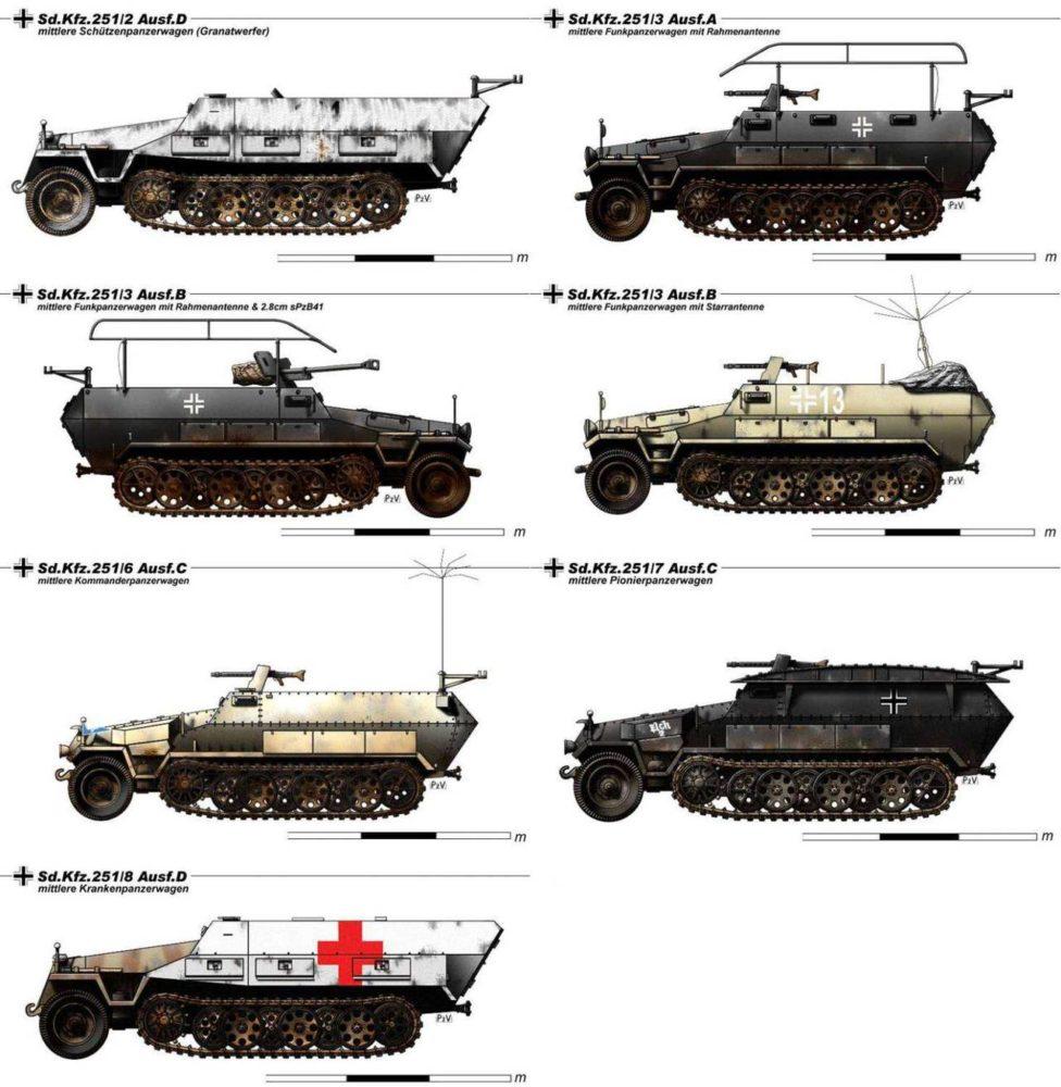 Модификации SdKfz 251