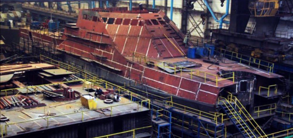 Постройка корабля проекта 22160