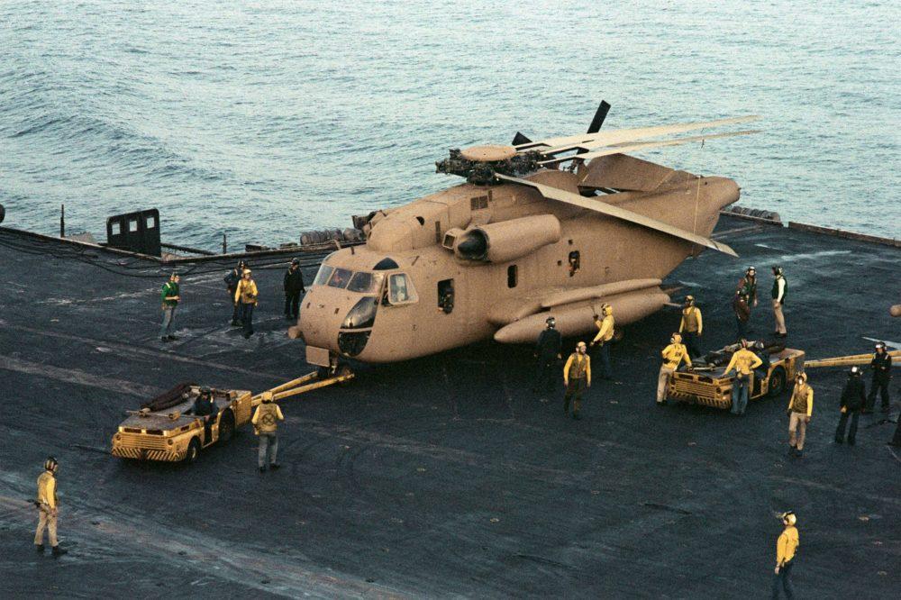 RH-53D на палубе авианосца «Нимиц»
