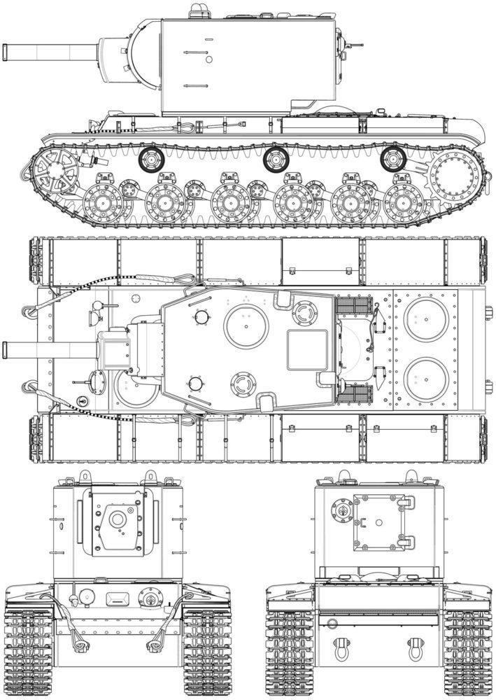 Схематическое изображение КВ-2