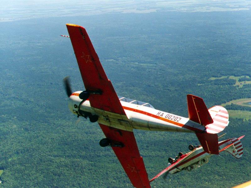 Совместное маневрирование на Як-52