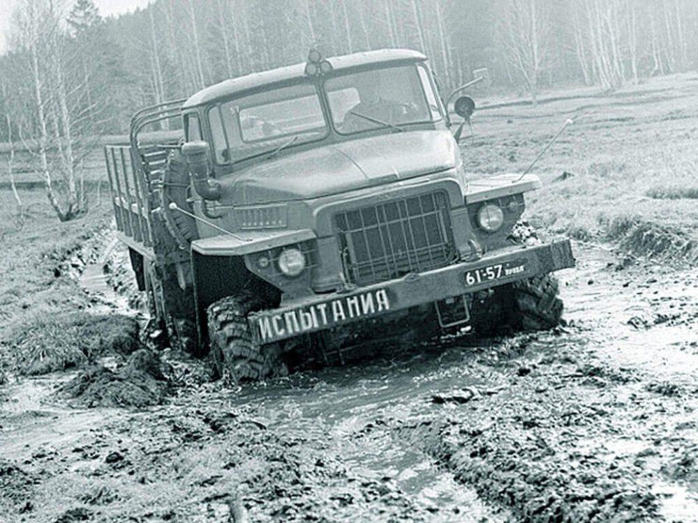 Урал-375 на испытаниях