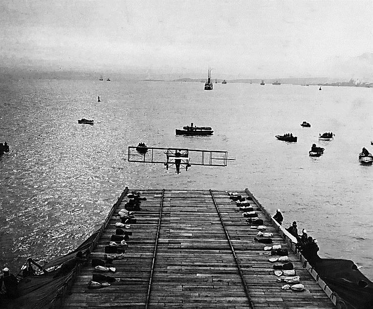 Взлет с палубы «Бирмингема»
