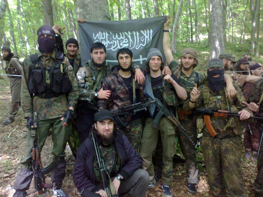 Чеченские боевики-партизаны