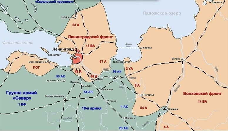 Обстановка под Ленинградом, 1941 г.