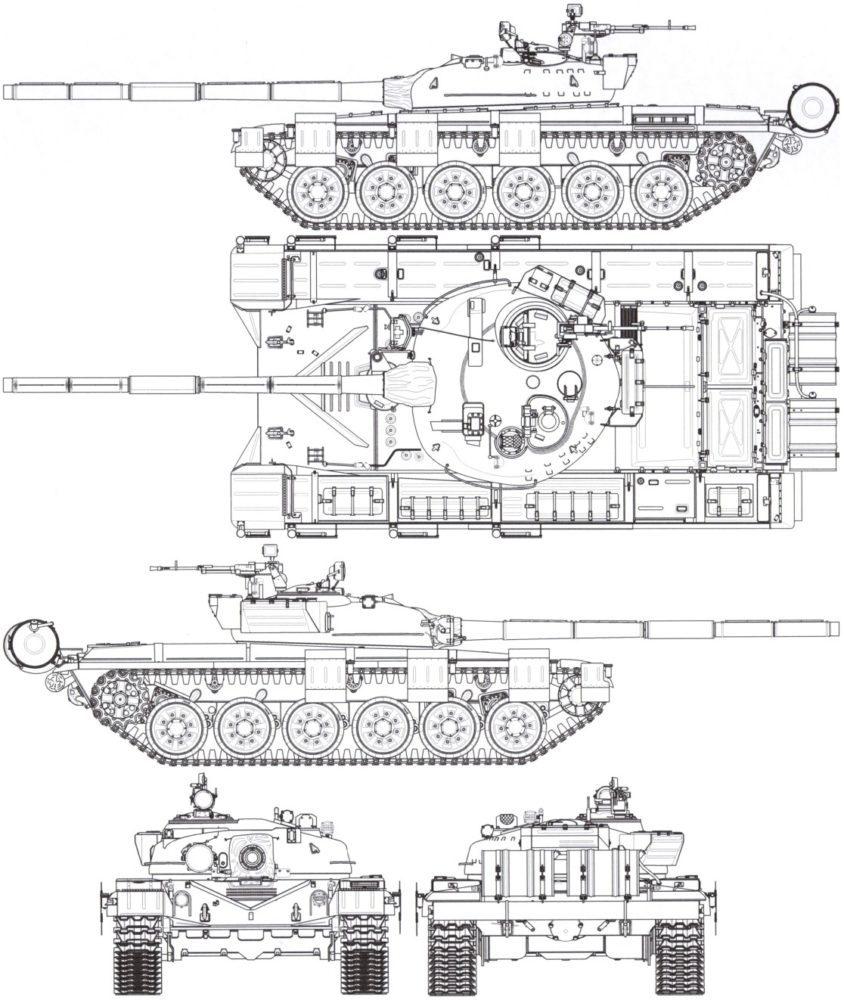 Чертеж Т-72