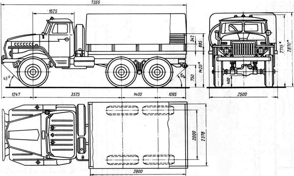 Чертёж Урал-4320