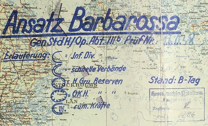 Фрагмент плана «Барбаросса»
