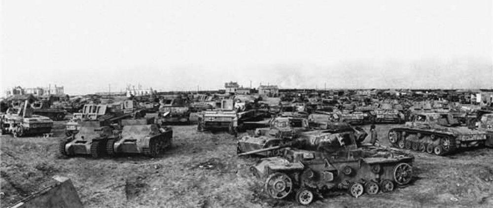 «Кладбище» немецкой бронетехники