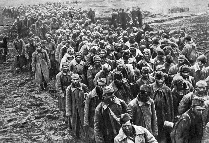 Красноармейцы, пленные под Вязьмой